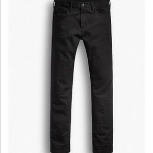 Levi's 513 slim straight black pants
